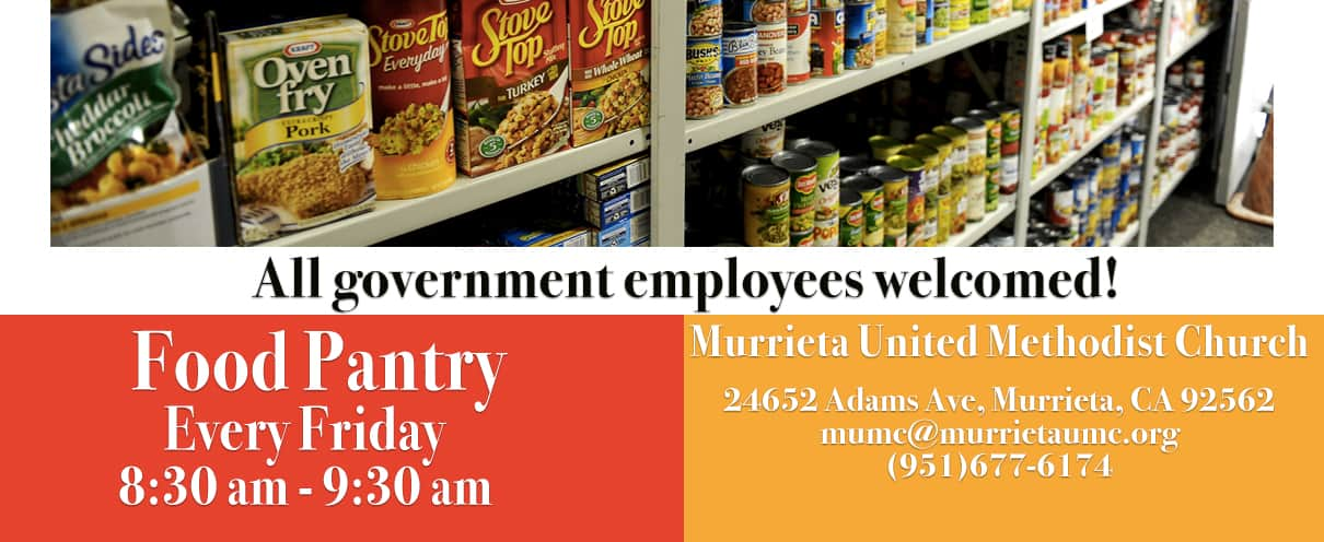 An Invitation to our church Food Pantry for all Government Employees